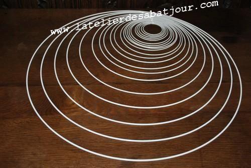 cercle abat jour nu rond atelier des abat jour technics pinterest atelier. Black Bedroom Furniture Sets. Home Design Ideas