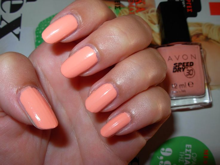 miouprincess loves pink!: NOTD: Avon 'Swift Sherbet' salmon nails