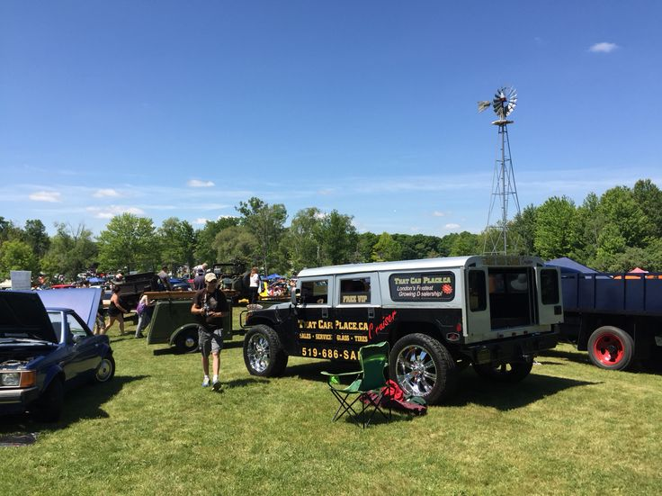 Fleet wood country cruise-In  June 8-2015 Our H1 on display