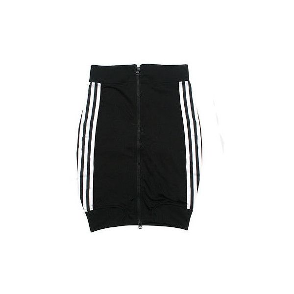 JEREMY SCOTT x ADIDAS ORIGINALS bodycon zipper skirt NEW 2/36 fitted... ❤ liked on Polyvore featuring skirts, mini skirts, bottoms, faldas, adidas, body con skirt, fitted mini skirt, adidas skirt, zipper mini skirt and fitted skirts