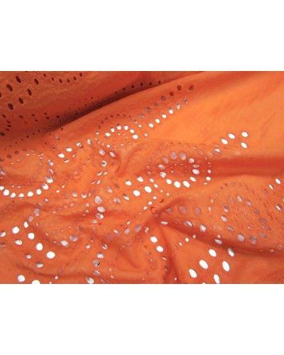 Manufacturer // Border Broderie Fine Cotton- Sunset Orange - $8.95