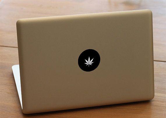 Cannabis plant logo Macbook decal - Macbook decal, Macbook pro, macbook air…