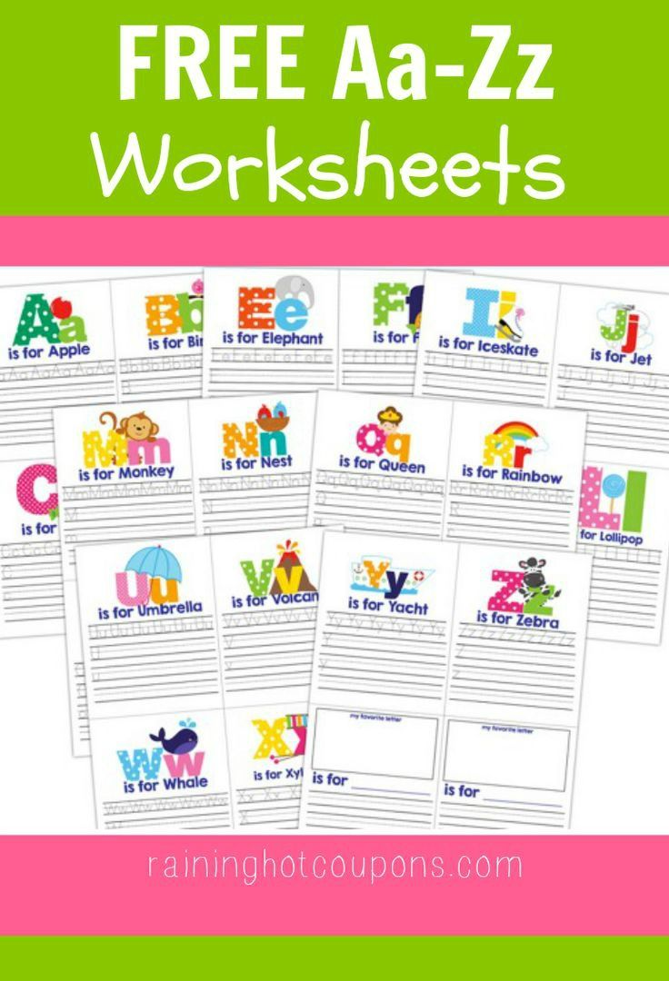 free printable letters for toddlers free a to z worksheets so pretty and a 11622
