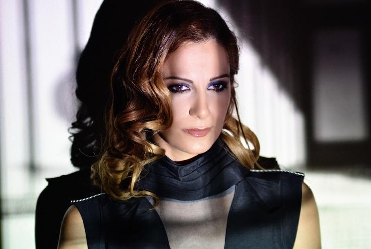 singer Despoina Olympiou in Christina Skarpeli see through dress...