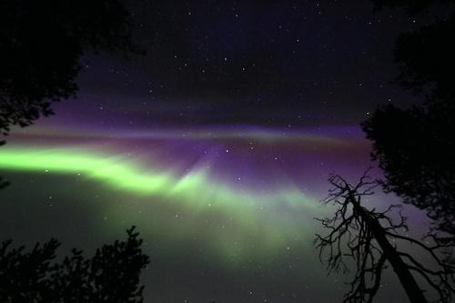 Northern Lights above Korouoma canyon. Photo by Markku Pirttimaa