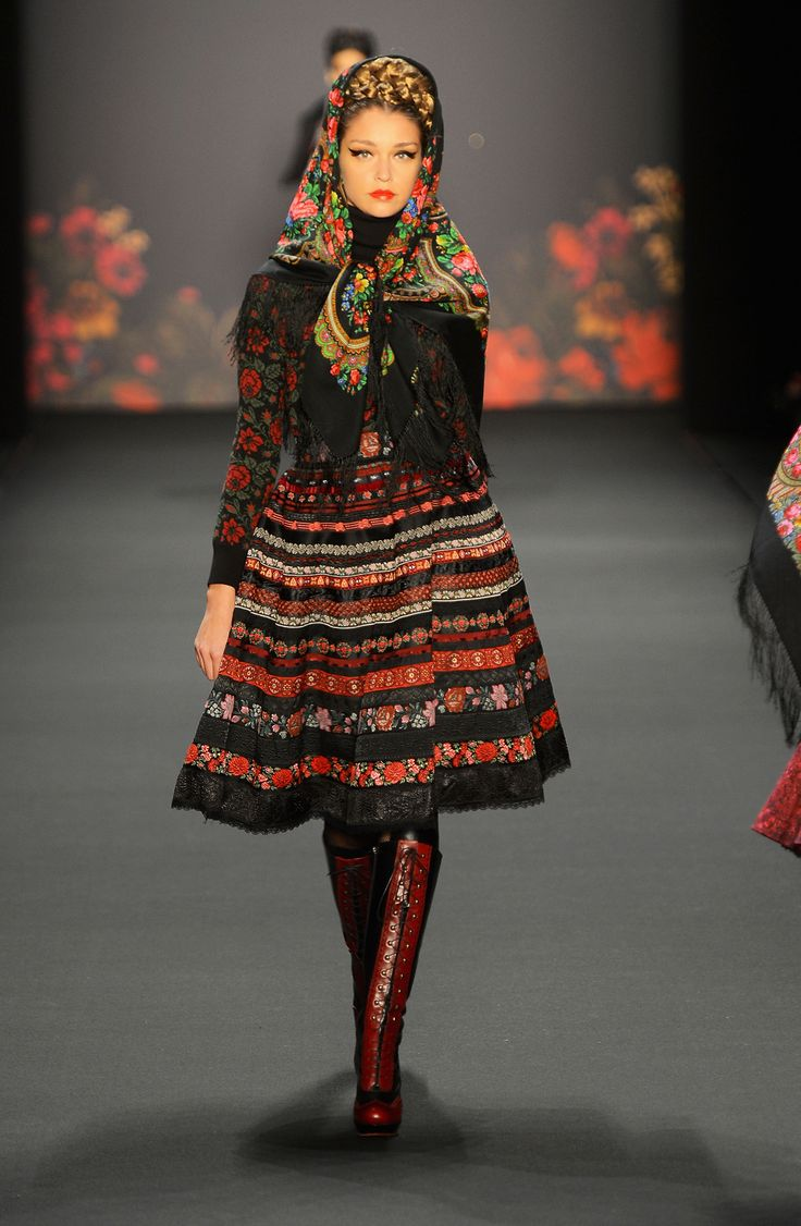 Russisches Tuch À LA RUSSE - Russian shawl A LA RUSSE scarf