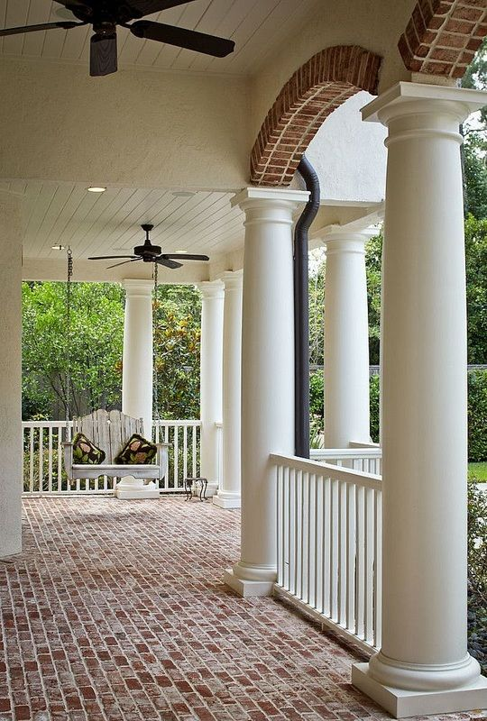 Best 20 brick pavers ideas on pinterest for Wrap around porch columns