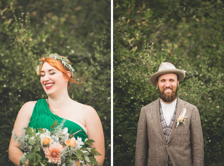 Bridal bouquet, floral crown and boutonniere for deep summer by Flying Bear Farm + Design www.flyingbearfar... - Photography by MARTIN + STELLING www.martinstelling.com