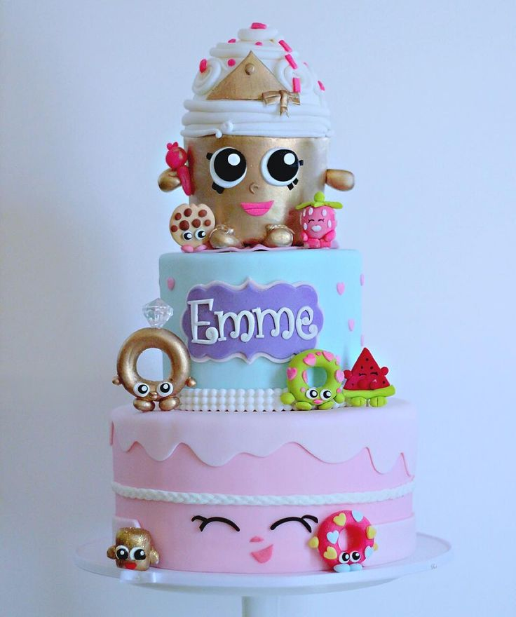 """""""Shopkins birthday cake! Too much fun creating this with all the special…"""