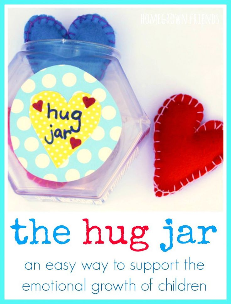 The Hug Jar is a tool to help validate the feelings of children. Supports emotional development in early childhood education.