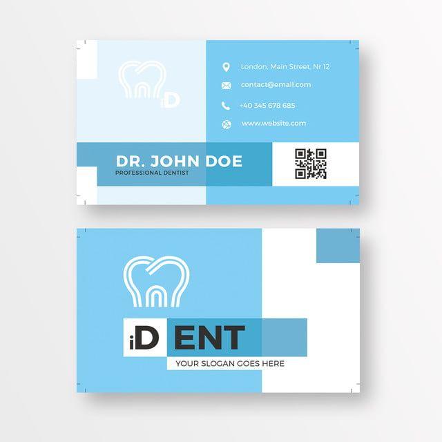 Dental Business Card In 2020 Dental Business Cards Dental Business Vector Business Card