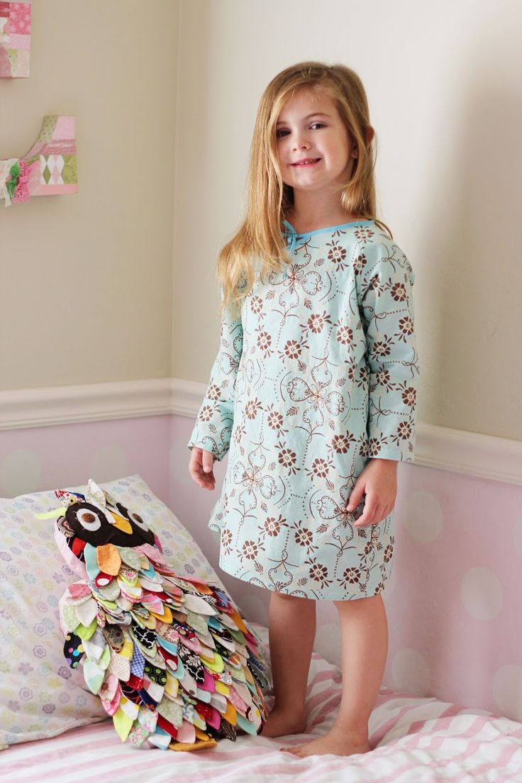 Seamingly Smitten: Nightgown sewing pattern for girls! Easy PDF pattern that's…