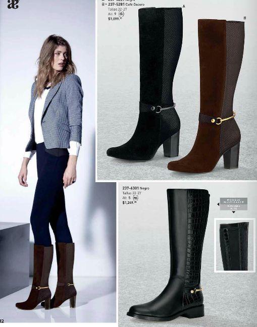 Botas Andrea tacon 5 y 9 cm. Botas de moda para damas, botas de tubo largo…