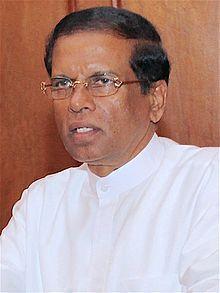 2016 SRI LANKA: Maithripala Sirisena, President of Sri Lanka, Wkikpedia