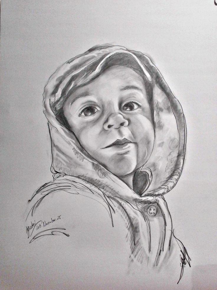Danika...-grafit-papír-60x45 cm