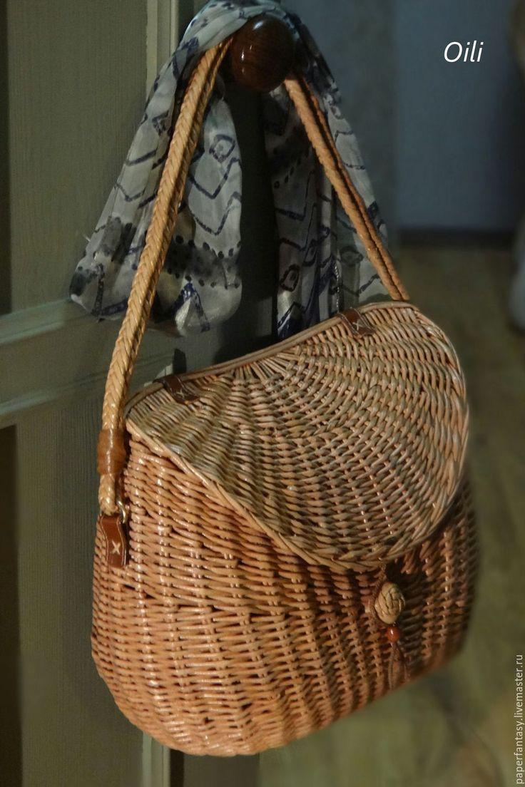 Купить сумка плетеная женская - сумка ручной работы, плетеная сумка, стильная сумка