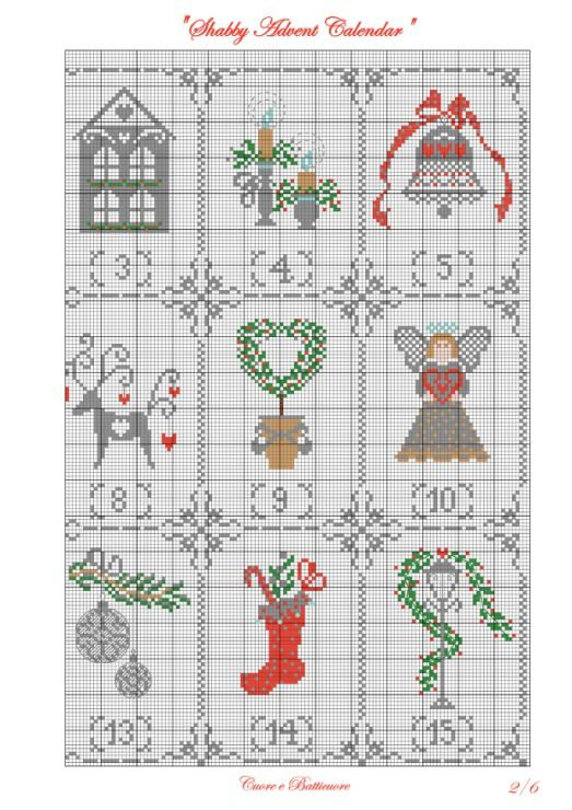 (1) Gallery.ru / Shabby Advent Calendar - Shabby Advent Calendar - Marina-Melnik
