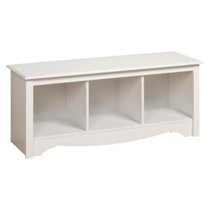 Target Monterey Cubby Bench - White. ($90): Beds Rooms, Monterey Cubbies, Entryway Bench, Shower Rooms, Cubbies Benches, Bathroom Window, Window Seats, Bedrooms Benches, Storage Benches