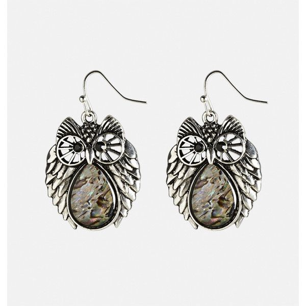 Avenue Iridescent Owl Drop Earrings (645 INR) ❤ liked on Polyvore featuring jewelry, earrings, multi color, plus size, multicolor earrings, artificial jewellery, multi color earrings, multi colored earrings and owl jewelry
