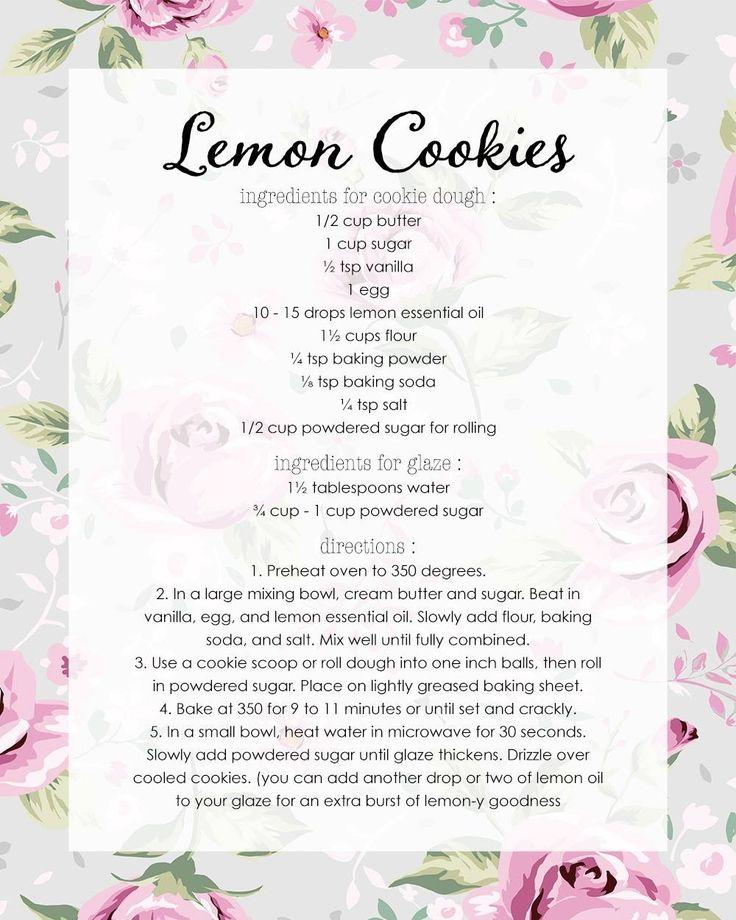 Young Living Essential Oils: Lemon Cookies Recipe