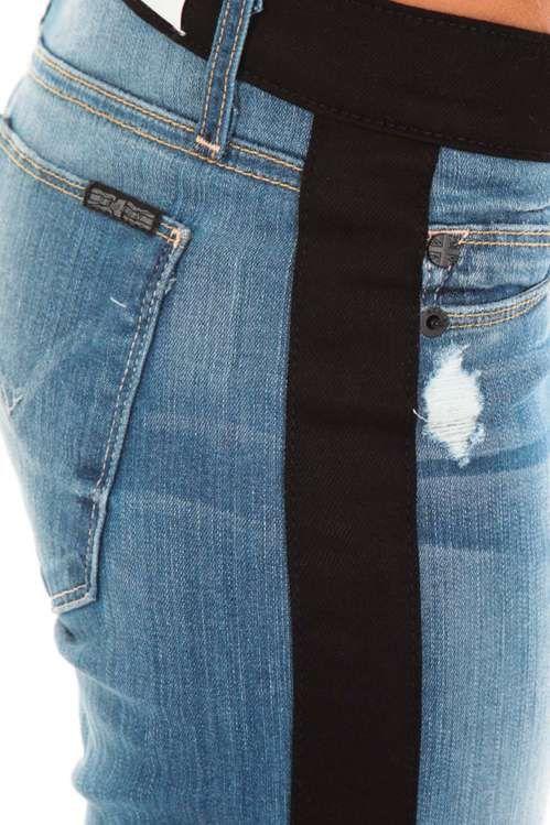 jeans leeloo hudson bleu noir skinny jeans femme