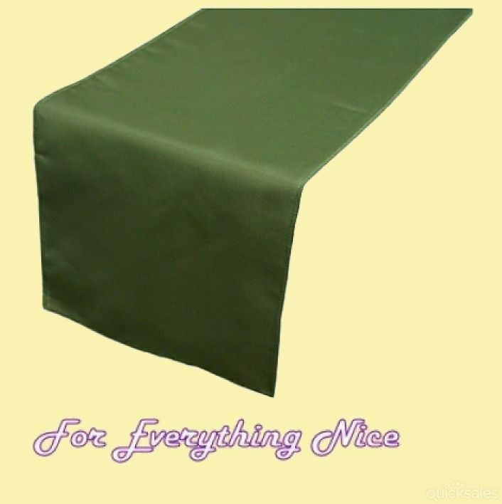 Willow Green Polyester Wedding Table Runners Decorations x 5 For Hire by J7339 - $30.00