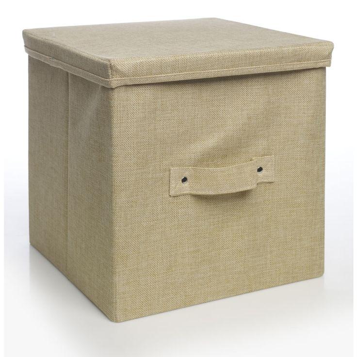 Wilko Weave Storage Box With Lid Cream 163 7 50 Storage