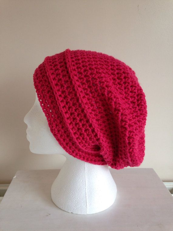 Slouchy hat womens slouchy hat crochet by Christinescraftbox
