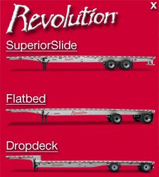 Fontaine Trailer -- Flatbed trailers, Flat bed trailers, Trailer Drops, Aluminum Trailers, Composite Trailers, Steel Trailers, Revolution Trailers