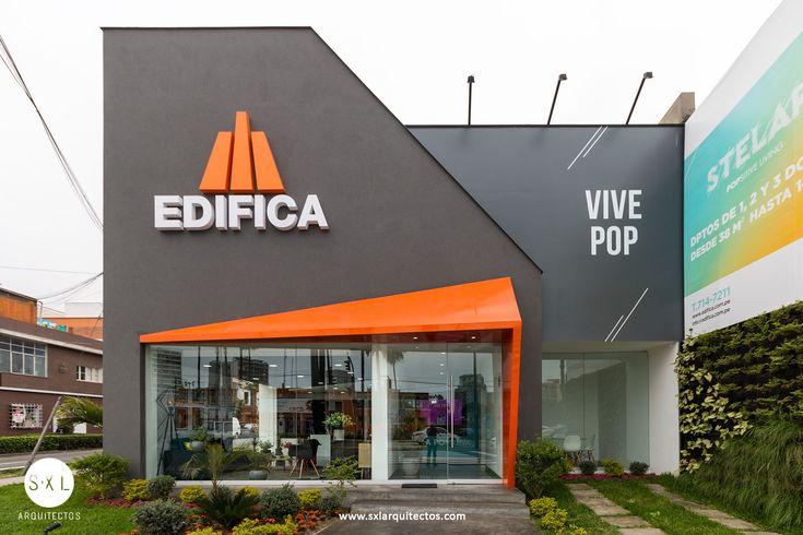 Diseño de sala de ventas para proyecto Stelar, en Barranco. Inmobiliaria Edifica. // sxl arquitectos diseño y construcción de oficinas y locales comerciales.