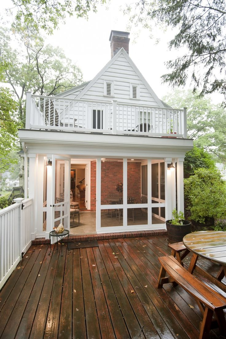 Wood deck and deck railings also patio furniture with enclosed front porch ideas plus glass windows