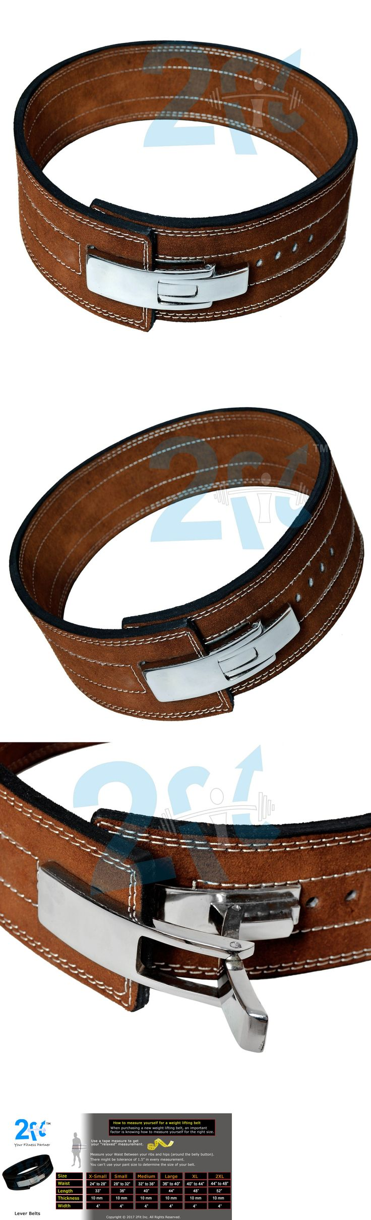 Belts 36155: 2Fit Weight Power Leather Lever Pro Belt 10Mm Gym Training Power Lifting Brown -> BUY IT NOW ONLY: $37.99 on eBay!