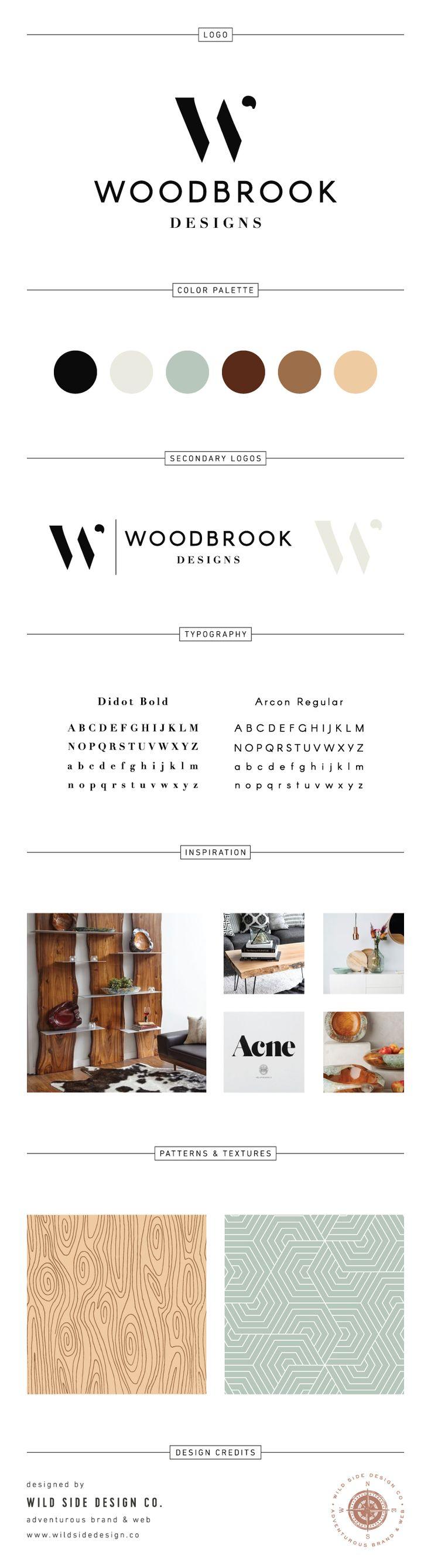 Brand Launch :: Brand Style Board :: Contemporary Interior Decor Branding :: Woodbrook Designs Brand Design :: #branding www.wildsidedesign.co