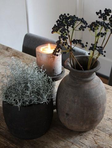 tafelversiering: Sabi Life, Country Style, Candlelight, Wabi Sabi, Mooie Decoratie, Natural Living
