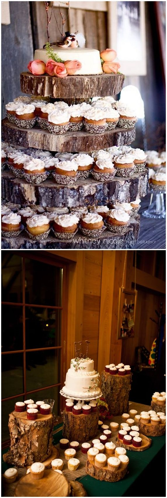 Country Rustic Wedding Ideas with Tree Stump