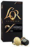 L'Or Espresso Café Ristretto - Intensité 11 - 50 Capsules en Aluminium Compatibles avec les Machines Nespresso (Lot de 5X10 capsules)