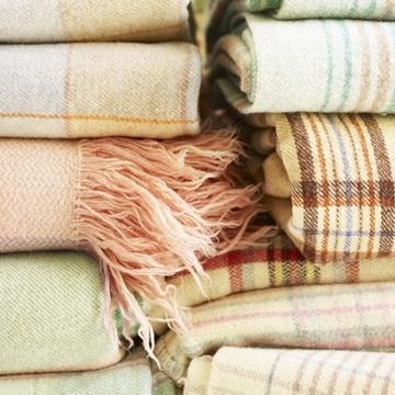 plaid pastel blankets via dress design decor