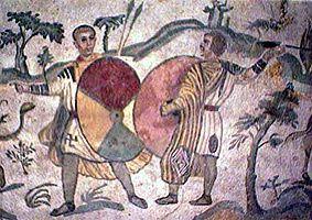 motif bouclier romain
