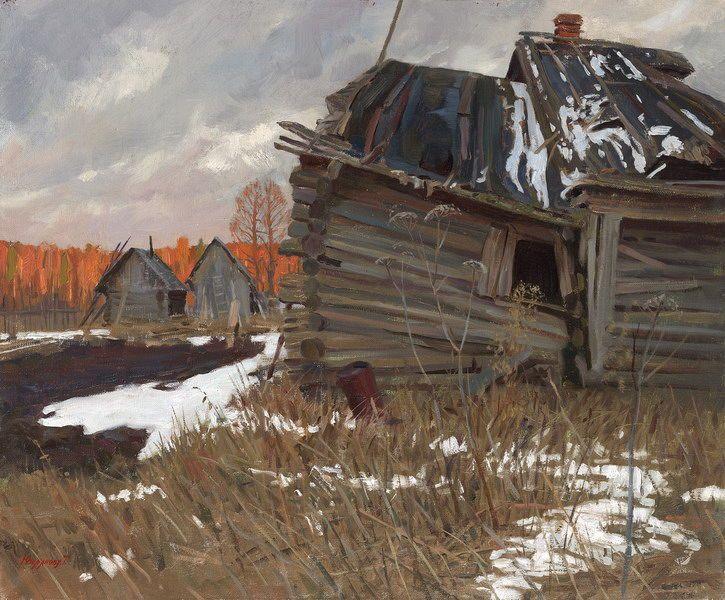 Татьяна Юшманова. Последний снег. 2005 г. Холст, масло. 50х60 см