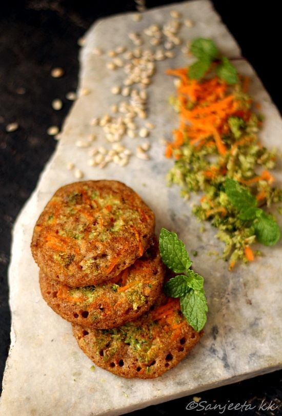 Savory Multi Millet Pancakes with Garlic-Herb Cottage Cheese Spread.
