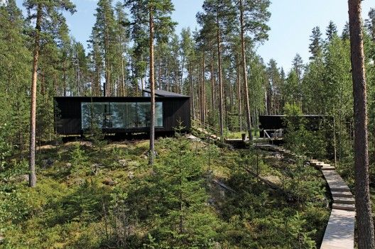 House in Saimaa. Finland's Lake District