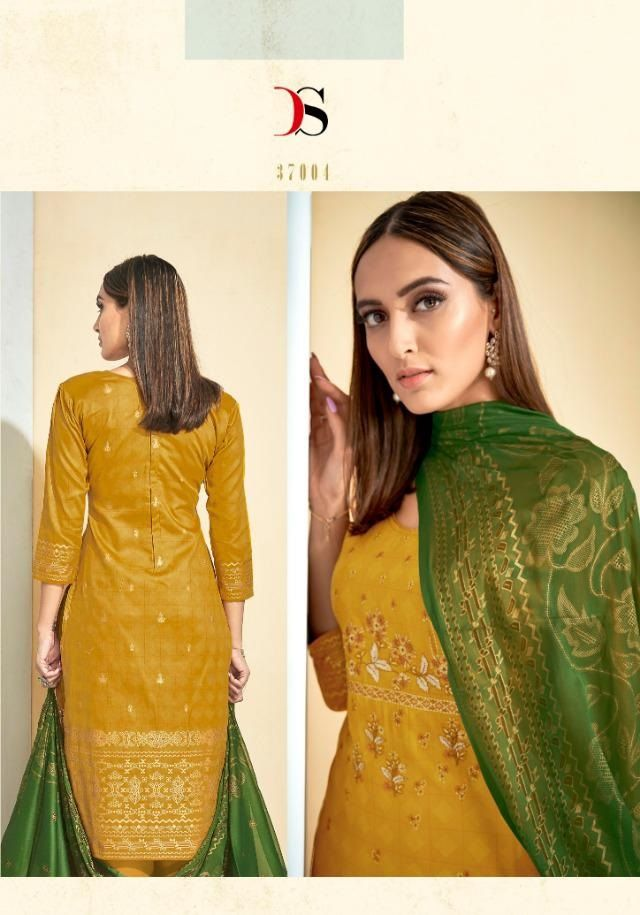 4d5f4afae7 DEEPSY KARIGARI VOL 2 Wholesale Jam Silk Cotton Foil Printed Suits Material