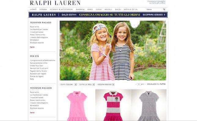 Un noto brand che effettua questo tipo di vendita online e che mette a disposizione dei suoi clienti codici sconto e coupon per ottenere ribassi sui prezzi è Ralph Lauren