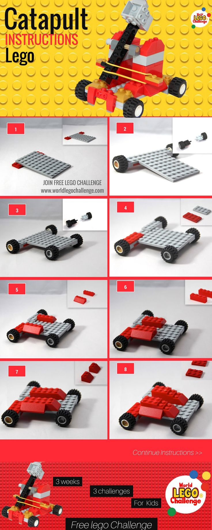 Lego catapult how to build --->click for full instructions! ---> You are welcome to join the Next World Lego challenge #lego #catapult #how #to #build #how #to #construct #infographic #diy  #slingshot #ararbalest #ballista #heave #propeller #trebuchet ow to build it!!..it's so simple!! you have the bricks, you dont need to purchase anything!! Join ourn next free world lego challenge for kids! it boost kids genious and creativity! #infographic #lego #baby #dragon #diy #ideas #instructions…