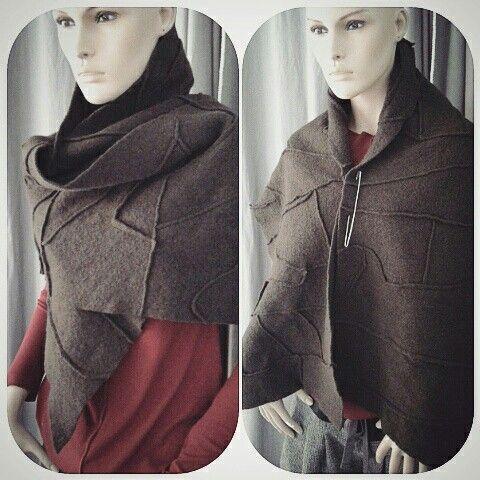 Sciarpa/scialle 100% lana cotta color cioccolato, pezzo unico € 52.