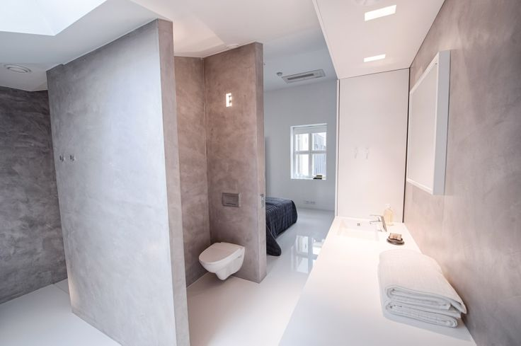 The penthouse with two bedrooms. The master bedroom ensuite bathroom.