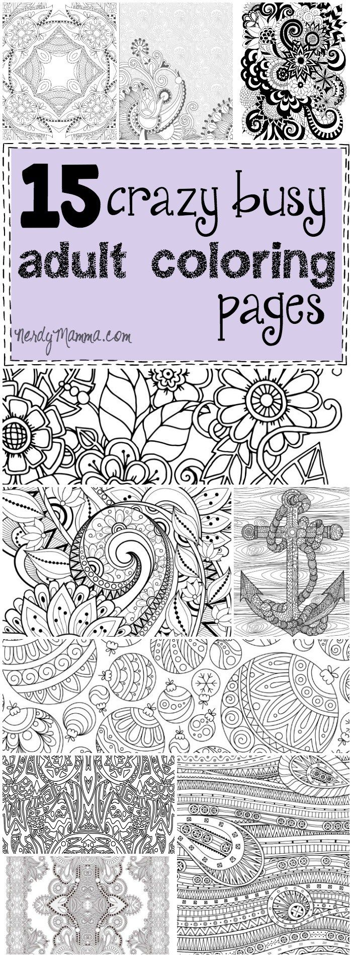 Free printable santa wish list coloring page tickled peach studio - 15 Crazy Busy Coloring Pages For Adults