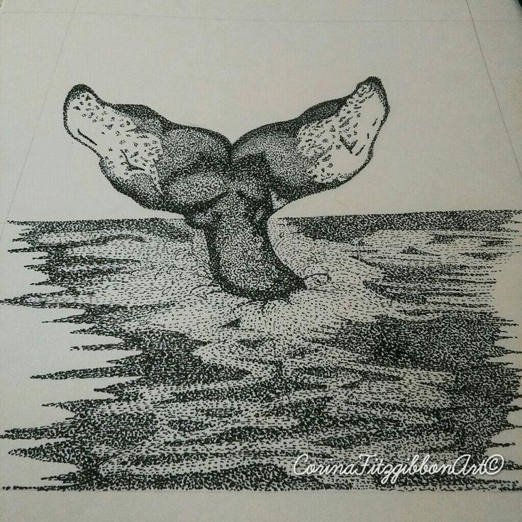 """Whale hello there"" Whale || Original Pen Drawing || Ocean || Sea Creatures || Whale tail || Illustration || Art || Wall Art || Home Décor || Irish Art || Irish Artist|| CorinaFitzgibbonArt© All rights reserved."