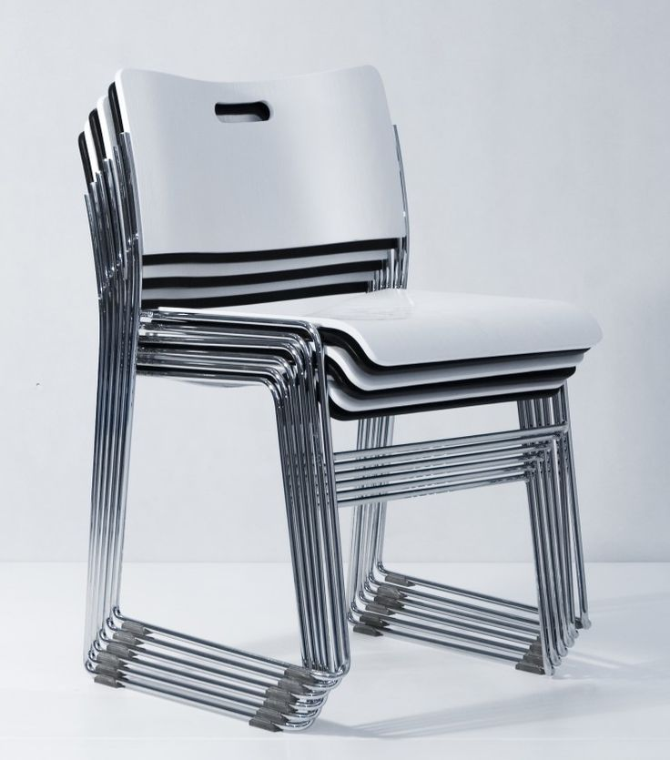 Features Designed for conference facilities and training rooms where a true stacking chair is required. HIGHRISE is able to stack up to 35 chairs high. The seat and back are made from moulded plywood. Chrome steel frame provides improved durability. *When ordering 35 chairs, a wheeled trolley is included free of charge (alternatively the trolley can be purchased separately).