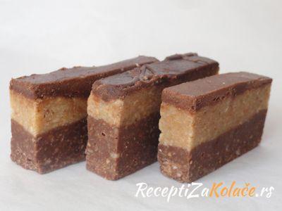 Bajadera http://www.receptizakolace.rs/kolaci-recepti/sitni-kolaci-recepti/7-bajadera